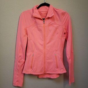 Lululemon Coral Pink Zip Up Jacket